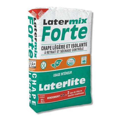 Latermix Forte: lightweight shrinkage compensated screed