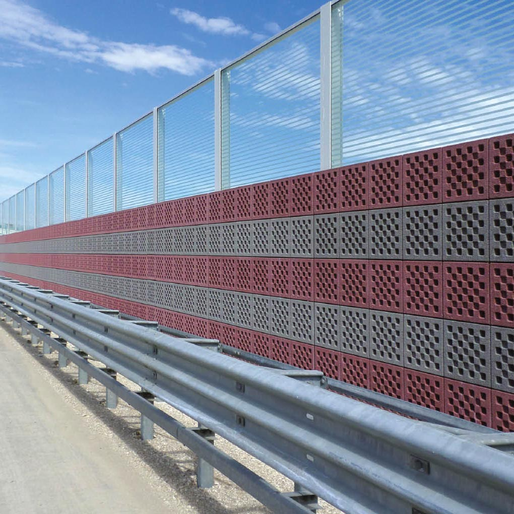 Noise barriers: concrete sound adsorbing walls
